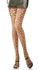Cookie Leopard Print Tights