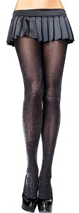 Daenerys Fashion Tights in black and silver