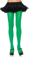 green costume tights