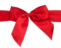 Red hair bow for Vanellope costume