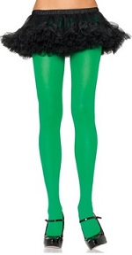 Green costume pantyhose