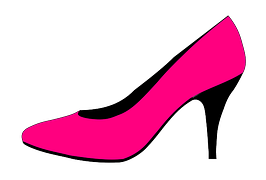 Hot Pink high heel