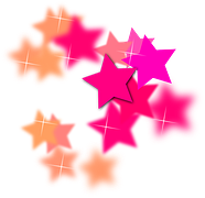 Multi-colored Barbie Stars