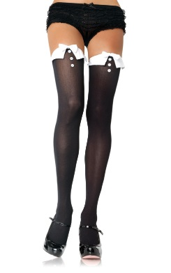Opaque Thigh High Stockings