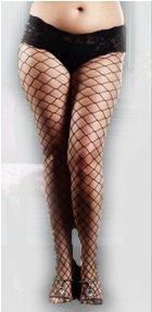 Plus size costume fishnets