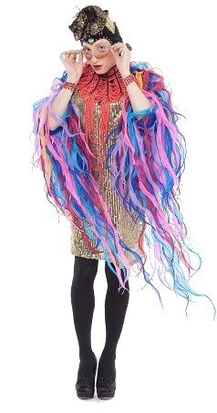 Colorful Drag Queen Wearing Pantyhose