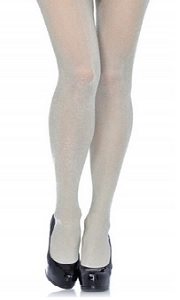 Lurex Fashion Tights in silver