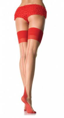 Leg Avenue Sheer Backseam Cuban Heel Stockings LA1027