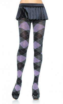 LA7725 Leg Avenue Heather Argyle Tights