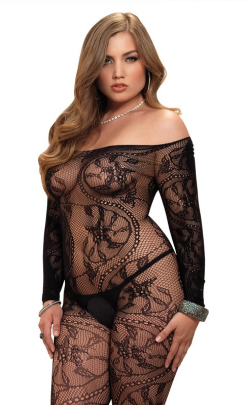 Leg Avenue Spiral Lace Bodystocking #89106Q