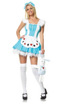 LA83064 Leg Avenue Alice Girl Halloween Costume