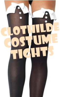 French Maid Costume Tights