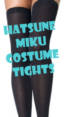 Hatsune Mike over the knee costume tights