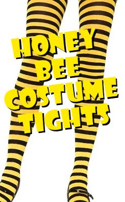 Honey Bee Nylon Costume Thigh Highs