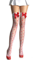 LA1018 Leg Avenue Thigh High Heart Stockings