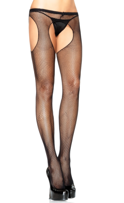 Leg Avenue Fishnet Garterbelt Pantyhose for Men LA1402M
