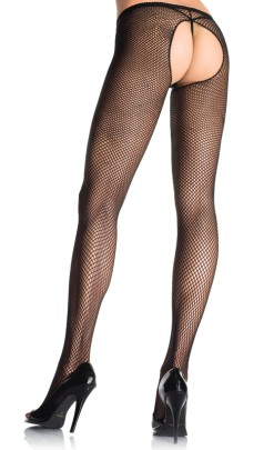 LA1404 Leg Avenue Crotchless Fishnet Pantyhose