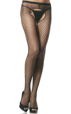 LA1408 Industrial Net Crotchless Pantyhose