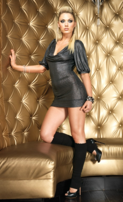 LA28069 Leg Avenue Shimmer Slinky Mini Dress