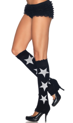 LA3920 Leg Avenue Star Leg Warmers