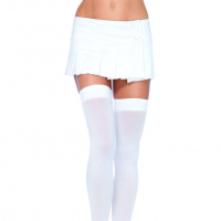 Leg Avenue White Over the Knee Thigh High