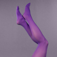 purple fashion tights