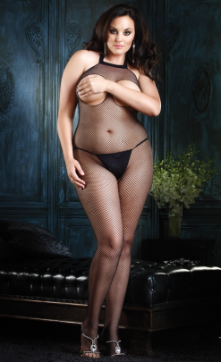 LA8350Q Leg Avenue Seamless Fishnet Bodystocking