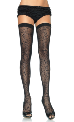 LA9090 Leg Avenue Spiderweb Lace Thigh Highs