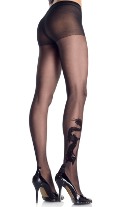 LA9910 Leg Avenue Dragon Tattoo Pantyhose