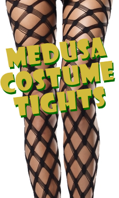 Medusa Costume Crocheted Net Pantyhose