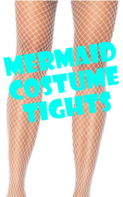 Mermaid Costume Fishnet Pantyhose