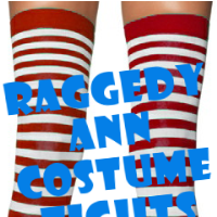 Raggedy Ann Costume Stockings