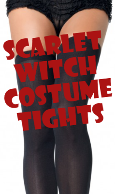 Scarlet Witch Costume Thigh Highs