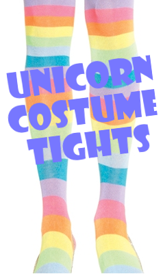 Unicorn Costume Rainbow Thigh Highs