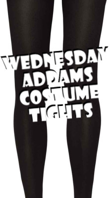 Wednesday Addams Black Costume Tights