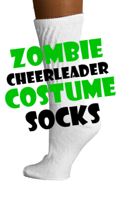 Zombie Cheerleader Costume Socks