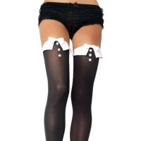 LA6615 Leg Avenue French Maid Thigh High Stockings