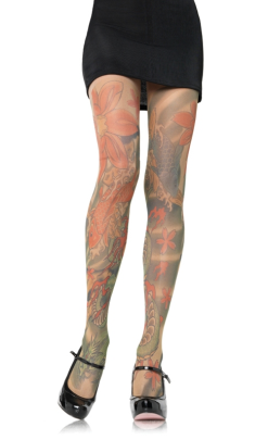 LA7510 Leg Avenue Tattoo Pantyhose