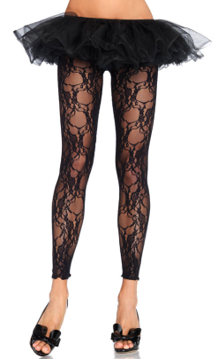 LA7888 Leg Avenue Floral Lace Footless Tights