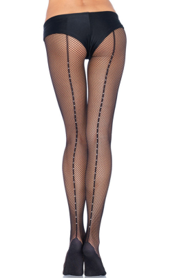 PD803 Leg Avenue Professional-Grade Rhinestone Backseam Fishnets