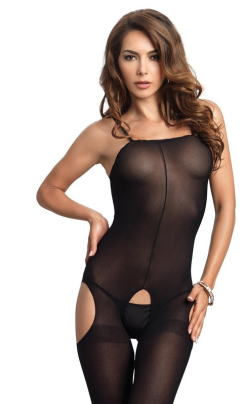 LA8195 Leg Avenue Opaque Suspender Bodystocking
