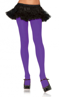 Leg Avenue Purple Opaque Nylon Tights