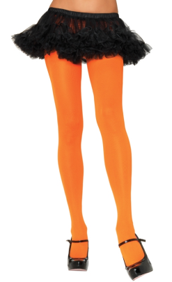 Leg Avenue Orange Opaque Nylon Tights