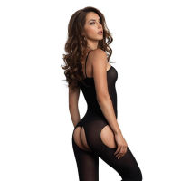 LA8195 Leg Avenue Opaque Suspender Bodystocking Rear View