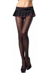 Leg Avenue Nylon Spandex Sheer Pantyhose with Opaque Stripes