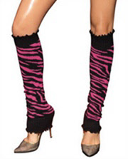 Leg Avenue Zebra Leg warmers